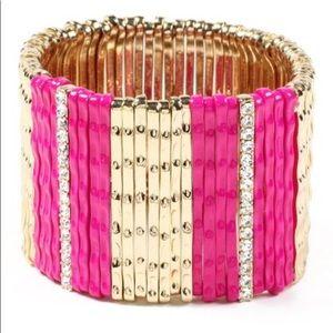 Amrita Singh Crystal Mercer Stretch Bracelet